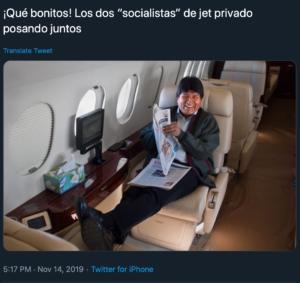 Evo Morales Jet Mexico