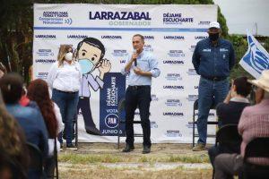 Fernando Larrazábal en el arranque de su campaña electoral