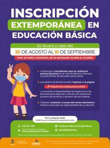 Inscripción-extemporánea-educación-básica-ciclo-escolar-2021-2022-Querétaro-LA*-VOZ
