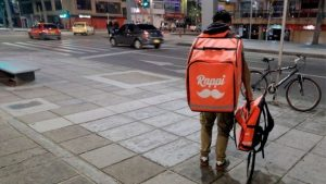repartidor en bici de Rappi