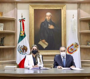 Evelyn Salgado rindió protesta como nueva gobernadora de Guerrero.